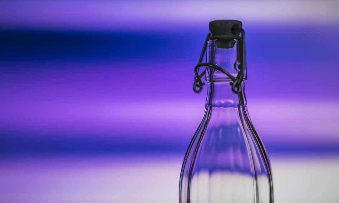 blue bottle close up color